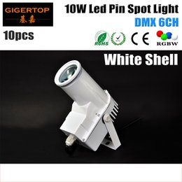 Shell houSeS online shopping - Freeshipping XLOT White Shell Housing W Led Spot Light DMX Channel W RGBW in1 Color Mixing Disco Pin Spot Stage Light TP E18