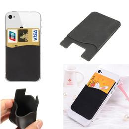 Toptan-2x Cep Telefonu Silikon Cüzdan Nakit Tutucu 3M Yapıştırıcı Sticker Case Arka