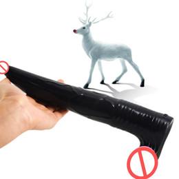 $enCountryForm.capitalKeyWord UK - 25.5cm Gode Dildo Long Deer Dildo Animal Realistic Masturbation Sex Toys Anal Plug Flexible Sex Products for Women Men Fetish Q27