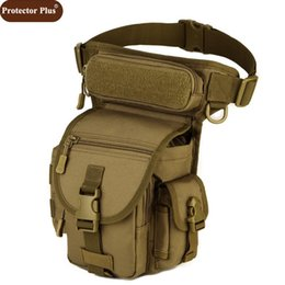 Barato Atacando Mais Legging-Atacado- Protector Plus 2017 Men Waterproof Nylon Leg Bags MOLLE sistema Cintura Pack Men Belt Fanny Pack D528
