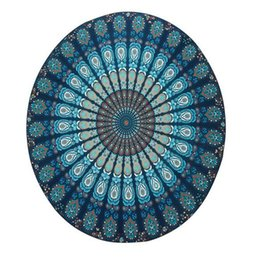 $enCountryForm.capitalKeyWord Australia - Summer Chiffon Round Mandala Beach Towels Printed Tapestry Hippy Boho Tablecloth Bohemian Beach Towel Serviette Covers Cool Beach Yoga Mat