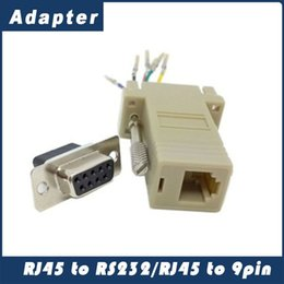 rs232 adapters Australia - Hot Sale Good Quality Wholesale 1000pcs lot DB9 Female to RJ45 Female F F RS232 Modular Adapter Connector Convertor Extender