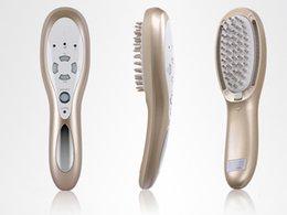 Опт Аккумуляторная 3 в 1 лазерный светодиодный свет микро текущий волос кисти роста волос массажер здоровья гребень