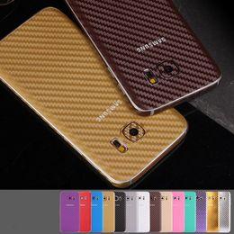 White Carbon Fiber Skin Canada - 360 Degree Full Body Carbon Fiber Beige Style sticker For samsung S7 S6 edge or Plus S5 Note 5 4 3 2 A710 A510 Case Skin