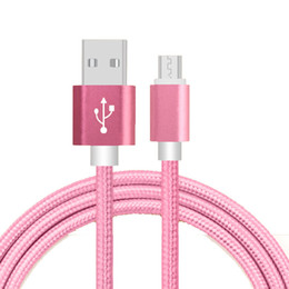 Cloth braided online shopping - Top quality Micro USB Cable Sync Data Cable For Samsung Note7 Note Sony Fabric Braided Nylon Cloth Woven Micro USB Cable Charging Wire