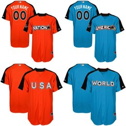 ... 2017 All-Star Game Jersey National League American League Team USA  Baseball Jerseys Team World ... d9bc1aae1