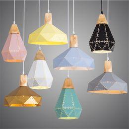 scandinavian lighting 2019 - Nordic Loft Industrail Laser Cutting Pendant Lamp Bedroom Restaurant Droplight Modern Scandinavian Wood Hanging Light fo