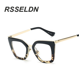 cde5c61dab Wholesale- RSSELDN 2017 Gafas Cat Eye Women Eyeglasses Clear Lens Spectacle  Frame Fashion Female Sun Glasses Optical Eyewear
