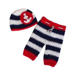 $enCountryForm.capitalKeyWord UK - Newborn Nautical Sailor Costume,Handmade Knit Crochet Baby Boy Girl Anchor Hat and Pants Set,Infant Halloween Costume Photo Prop