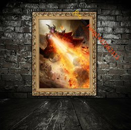 "Art Canvas Prints Australia - "" Epic Legacy Archmagister King"" Premium Art Print. HD Canvas Bedroom Wall Print Home decoration pictures Art painting Living Room(Unframed)"