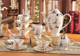 $enCountryForm.capitalKeyWord Canada - 2017 Classic Porcelain 15pcs Afternoon Tea New Bone china Mug European Ceramic Coffee Cup Saucer Tea Sets Tea Pot Jug Drinkware