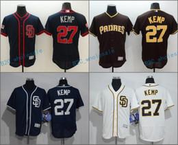 32c290b4815 ... 2017 Flexbase Stitched San Diego Padres 27 Matt Kemp Blue White Brown  Cream Grey Baseball Jerseys ...