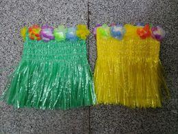 $enCountryForm.capitalKeyWord Canada - Hawaiian Luau Hula Girl Grass Skirt Flower Bra Chest Skirts Costume, Adult One-Size Variety Of Colors Shipped Random (2-3 Colors)