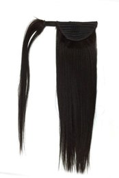 China Natural Brazuilian Straigt Hair Ponytail 120g Full Ponytail Straight Virgin Hair Extension ClipIn Real Silky Straight Ponytail Human Hair supplier real ponytail suppliers