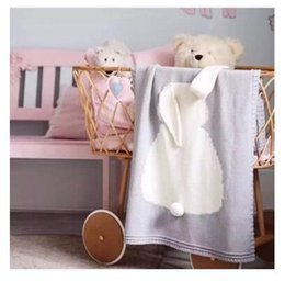 $enCountryForm.capitalKeyWord NZ - Newest Ins Baby Blanket Rabbit Crochet Cute Cartoon Knitted For Bed Sofa Cobertores Mantas BedSpread Bath Towels Play Mat