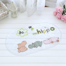 Shower mat online shopping - Bath Mat Animal World Cartoon Pattern Non Slip Anti Bacterial PVC Rubber Suction Foot Massage Shower Pad zc J R