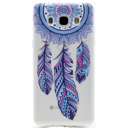 Fashion girls mobile phone covers online shopping - Transparent TPU Cover For Samsung Galaxy J510 J5 Case Fashion Tower bike Butterfly Girl Feather Design Mobile Phone Cases