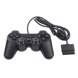 $enCountryForm.capitalKeyWord UK - Hot Sales Wired Double Vibration Shock Controller Gamepad Compatible for Playstation 2 PS2 Console Video Games Black Free DHL