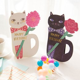 Kawaii birthday cards nz buy new kawaii birthday cards online 1 pcs creative cute cat and flowers greeting message card with envelope kawaii kids birthday gift cards q171129 bookmarktalkfo Choice Image