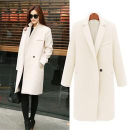c44c6fffd5c UK New Fashion 2017 Autumn Winter Notched lapel Long coat ZA Women Simple  Single button Overcoat Warm Casacos Manteau femme