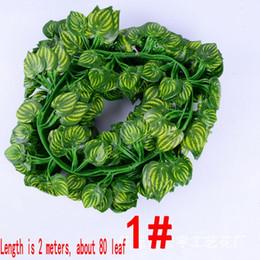 $enCountryForm.capitalKeyWord Canada - 200cm Length Artificial Silk Plastic Simulation Climbing Vines Green Leaf Ivy Rattan for Home Decor Bar Restaurant Decoration