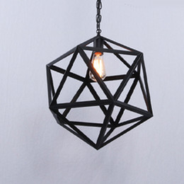 Discount industrial cage pendant lights - Industrial Edison Hanging Pendant Light lights lamps Pendant 1 Light Large Size Art Deco Cage Lamp Guard Metal
