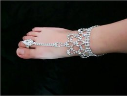 $enCountryForm.capitalKeyWord NZ - Gorgeous Wedding Rhinestone Anklets Beach Wedding Jewelry Toe Ring Anklet Foot Chains Ankle Bracelets Barefoot Sandals