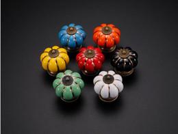 $enCountryForm.capitalKeyWord NZ - 7 Colors Pumpkins Kitchen Cabinets Knobs Bedroom Cupboard Drawers Ceramic Door Pull Handles With Screws 4*4*4 cm