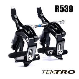taiwan bikes NZ - Black Silver Taiwan TEKTRO R539 Long Arms Bicycle Brake Calipers For Road Racing Bike About 160g Super Light Forged Aluminum Arms Material