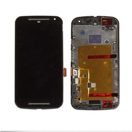 Discount lcd display moto g2 A+++ 5pcs lot New Quality LCD Display With Touch Screen Digitizer + Frame Replacement For Moto Motorola G G2 G3 XT1032 X