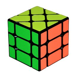 kids toy cube UK - New Arrival Speed 3X3X3 Fisher Cube Magic Cubes Speed Puzzle Learning Educational Toys For Children Kids cubo magico