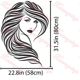 $enCountryForm.capitalKeyWord NZ - Hot Vinyl Wall Stickers Home Decor Hair Beauty Salon Barbershop Sexy Girl Wall Stickers Woman Face Home Deco