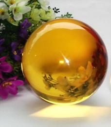 Magic Crystal Balls Canada - Rare Natural Quartz Yellow Magic Crystal Healing Ball Sphere 60mm + Stand