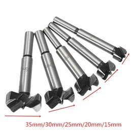drill cutters Canada - 5Pcs 15-35mm Forstner Drill Bits Set Hinge Hole Cutters Woodworking Hole Saw Cutters