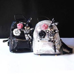 New Fashion Kid Girl Backpack Designer Kids Boy Cartoon PU Leather  Backpacks Children s Bags Black Punk Child Bag Black Silver CK050 501b9c8d2d1c3