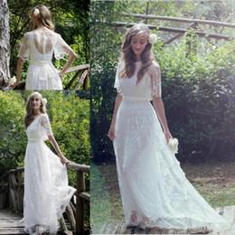 romantic bohemian beach wedding dresses elegant lace plus size floor length boho wedding bridal gown vestidos de noiva pink romantic elegant wedding dress
