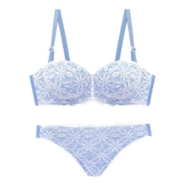 $enCountryForm.capitalKeyWord Canada - 1 2 cup full lace small young girls push up bra and panty set adjustable sexy underwear thicken women intimates bra brief sets
