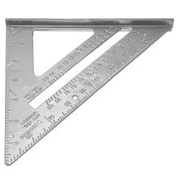 roofing tools Canada - 18 * 18cm Aluminum Alloy Speed Square Protractor Miter Framing Measurement Carpenter Measurement Tool for angling roofing