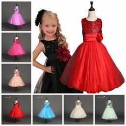 baby dress black tutu 2019 - 2017 summer girls party dress sleeveless tutu dresses kids gown baby prom dress with big rose and paillette baby girl