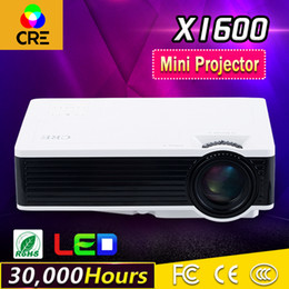 Audio Business NZ - Wholesale-Mini home&office projector for entainment 800*480p support 1080p HDMI USB Audio video input beam projector