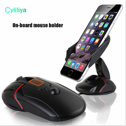 One Lite Canada - Creative Dashboard Car Phone Stand Holder One Touch Mouse Suction Cup Cradle For Huawei P7 P8 P9 Lite Lenovo P780 P70