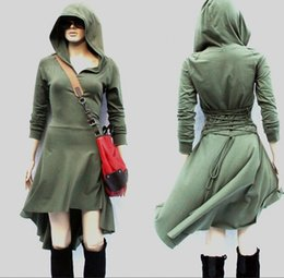 Femme Habillée En Hiver Pas Cher-Women Jumper Day Dress Low High Sweatshirt Vestidos Robe d'hiver Sexy Long Sleeve Loose Casual Tunic Hoodie