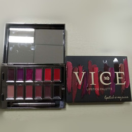 vice lipstick UK - Vice Blackmail Lipstick Palette Brands Makeup Sets 12 Colors Lip Gloss Palette Cream Limited Edition Cosmetic Kit with Lip Brush