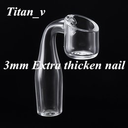 $enCountryForm.capitalKeyWord NZ - All 3mm Thickness For Bowl Tube Joint Extra Thicken Quartz Banger Nails 10 14 18mm Male Female Clear Joint Glass Water Pipe Cap