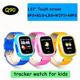 Discount lost tracks - Q90 Bluetooth GPS Tracking Smartwatch Touch Screen With WiFi LBS for iPhone IOS Android SOS Call Anti Lost SmartPhone DH