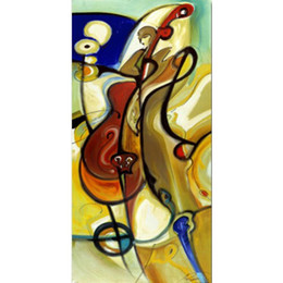bass paintings Canada - Lowdown Bass of Alfred Gockel oil paintings abstract art hand-painted high quality