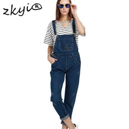 $enCountryForm.capitalKeyWord NZ - Big Size 5XL 4XL 3XL Women Jeans Overall 2017 Spring Fashion Blue Ripped Loose Slim Scratched Denim Overall Jumpsuit