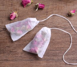 $enCountryForm.capitalKeyWord Canada - 1000Pcs Lot Tea bags 6 x 8 CM Empty Scented Tea Bags With String Heal Seal Filter Paper for Herb Loose Tea free shipping TY2136