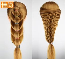 $enCountryForm.capitalKeyWord Canada - Head Model Fake Hair Model Mannequin Heads Multi-color Braided Hair Updo Makeup Model Ornaments Show Fluffy