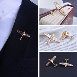 $enCountryForm.capitalKeyWord Canada - Fashion Men suits plane gilded gold metal Push button Brooches Airbus aircraft medal badges personalized Badge Broches pins Male Jewelry
